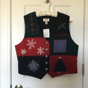 NWT Talbots Christmas Vest 🎄